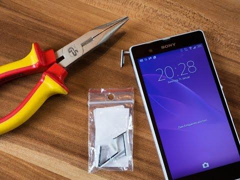 Sony Xperia Z Z1 Z2 Dichtung Schutzkappe wechseln  // deutsch // in 4K #10