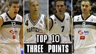 Top 10 THREE points - Partizan Belgrade