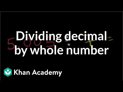 Dividing A Decimal By A Whole Number (video) Khan Academy