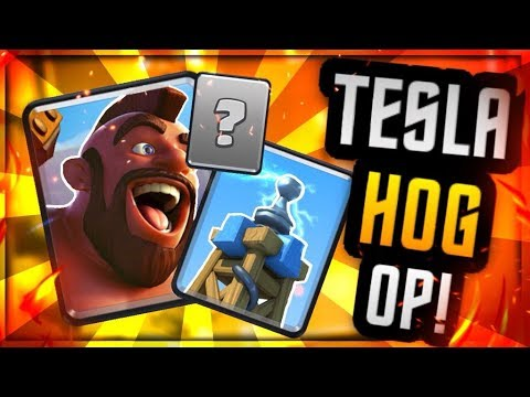 Is TESLA the STRONGEST Defense In Clash Royale?! :: F2P HOG CYCLE DECK!