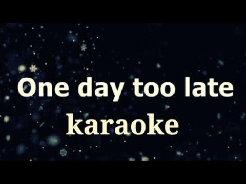 Skillet One day too late karaoke (background music) 🎶 by mr music karaoke
