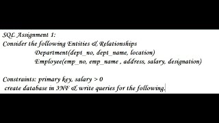 Learn SQL Queries with proper example employee-department example