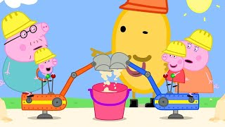 Peppa Pig Official Channel   Peppa Pig and George Drive Real Diggers