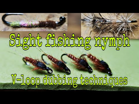 Sight fishing nymph and V loop techniques