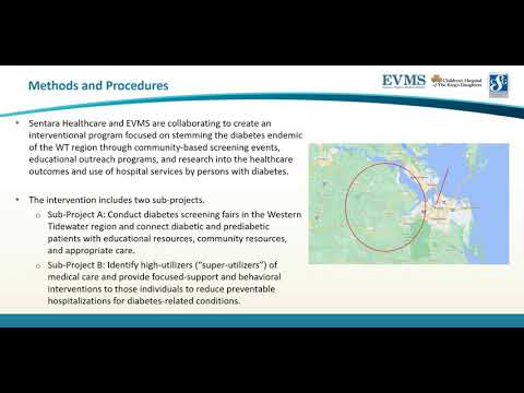 Thumbnail image of video presentation for Understanding, Improving & Tracking of Diabetes Care in the Western Tidewater Region of Virginia