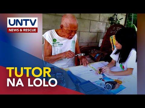 [UNTV]  93-anyos na lolo sa Tacurong City, nagtuturo pa ng modules sa dalawang apo
