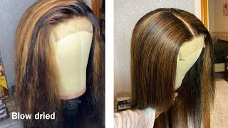 CARAMEL BROWN HIGHLIGHTS ON BLACK HAIR