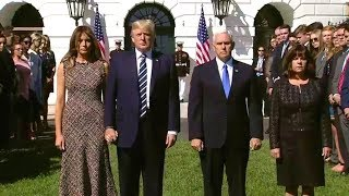President Trump and The First Lady Lead Melania Trump a Moment of Silence for Las Vegas 10217