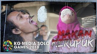 Kemeriahan Karyawan KG Media saat Ikuti Lomba Makan Kerupuk di Gedung Tribunnews Solo