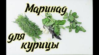 Курица рецепт маринада с травами