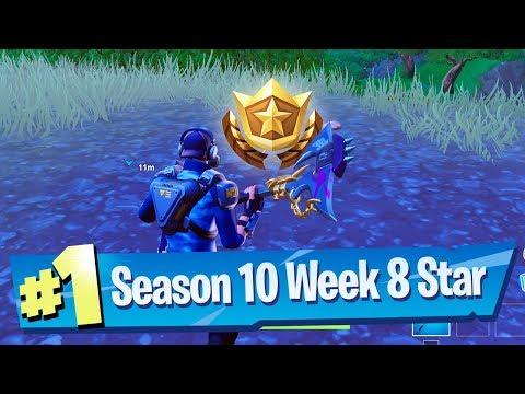 Fortnite Season 10 Week 8 Secret Battle Pass Star Location