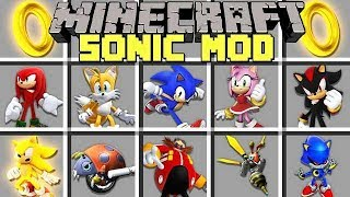 Minecraft SONIC MOD L BECOME SONIC, SHADOW, TAILS, KNUCKLES! L Modded Mini Game