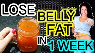 How To Lose Belly Fat In 1 Week   Flat Belly Drink   100% Effective Belly Fat Loss Drink