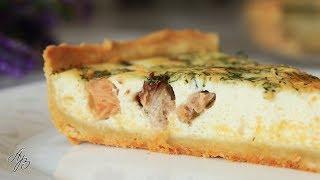 Безупречный Пирог Без Хлопот и Забот. Киш Лорен с Красной Рыбой и Сыром. Рецепт