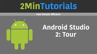 Android Studio Tutorials In 2 Minutes - 2 - Tour