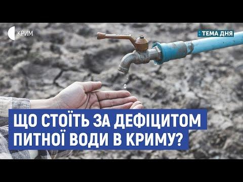 Що стоїть за дефіцитом питної води в Криму? | Смілянський, Плотніков | Тема дня