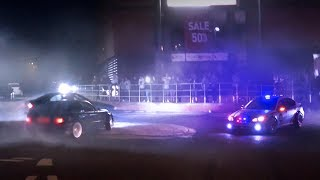 Drifter gets Spooked by FAKE Police Car!