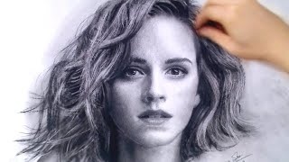 Рисунок, Hermione / Emma Watson Charcoal drawing - thePortraitart