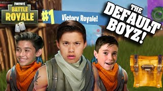 HOW TO WIN AT FORTNITE WITHOUT TRYING!!! Victory Royale with the Default Boyz!