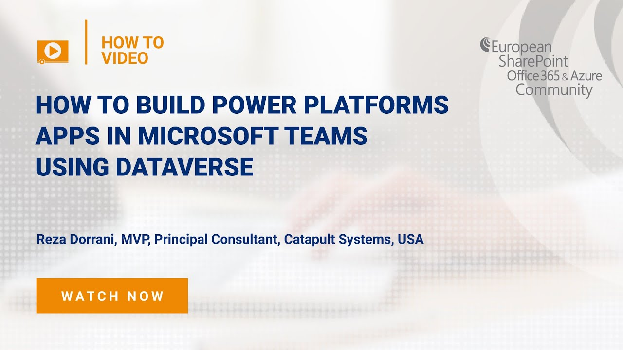 How To Build Power Platforms Apps in Microsoft Teams using Dataverse