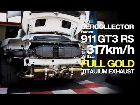 991|GT3RS|Gold Titanium|Autobahn|iPE exhaust