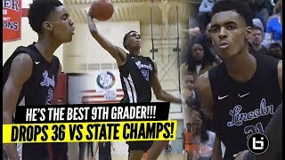 """DON'T Chant """"OVERRATED"""" To the #1 9th Grader!! Emoni Bates Drops 36 Points vs STATE CHAMPS!!"""
