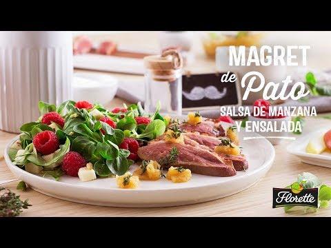 Magret de Pato, Salsa de Manzana y Ensalada - Recetas Florette