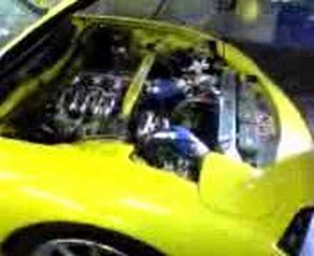 FD RX7 mazda 20b 3rotor big turbo 598whp 13psi on pump