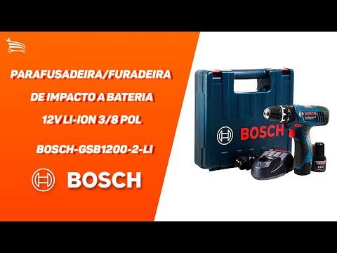 Parafusadeira/Furadeira de Impacto a Bateria 12V Li-Ion 3/8 Pol. com Carregador  2 Bat. e Maleta - Video