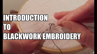 Blackwork Embroidery Tutorial - An Introduction To The Holbein Double Running Stitch