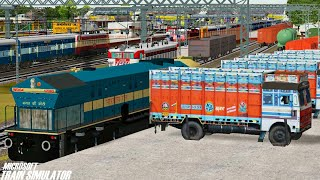 Loco Change Electric to Diesel || Bhopal Express || WAP7