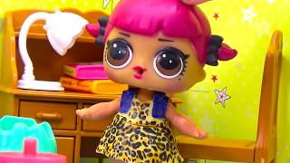 Мультик ЛОЛ ДВОЙКА ПО ЛИТЕРАТУРЕ И НОВЫЙ... #Игрушки #Сюрпризы видео для детей Вероничка Lalaloopsy