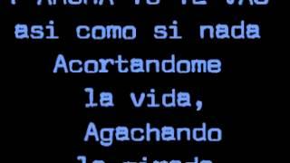 Chayanne - Y tu te vas (Letra)