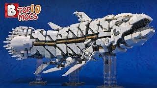 GIANT PREHISTORIC MECHA MONSTER! | TOP 10 LEGO Creations (MOCs)