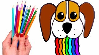 Download Dibuja Y Colorea Un Perro Con Arcoiris