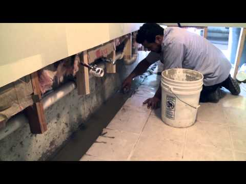 Basement Waterproofing: Exterior French Drain or Internal Drainage System?   Island Basement Systems