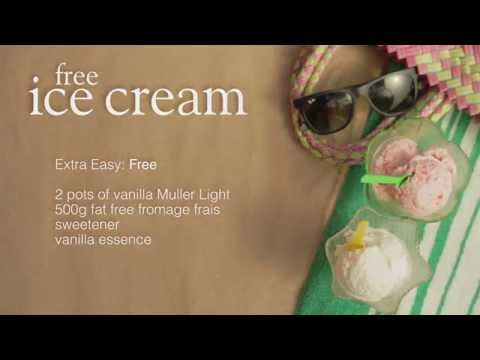 Video Slimming World Syn-free ice cream recipe
