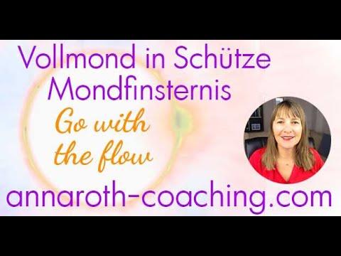 Vollmond in Schütze - Mondfinsternis - Go with the flow