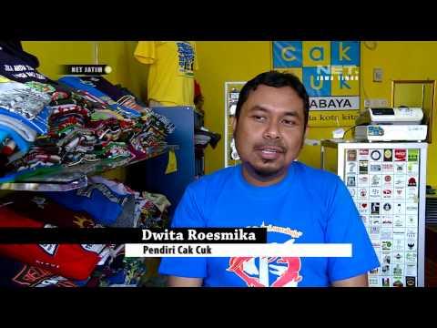 Video NET Jatim - Dia Luar Biasa Pendiri usaha kreatif Kaos Cak Cuk