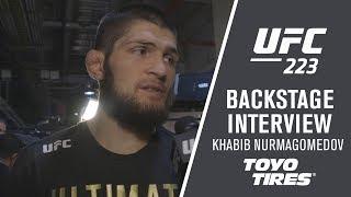 "UFC 223: Khabib Nurmagomedov - ""I'm Going to Hold This Belt All Night"""