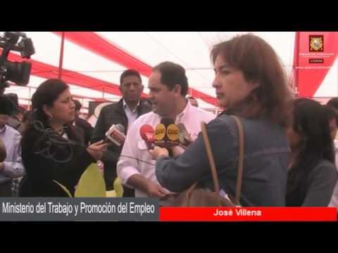 EXPO FERIA 2012 DE EMPRENDEDORES - MINISTRO DE TRABAJO