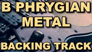 B Phrygian Metal Guitar Backing Track
