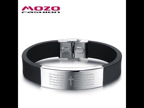 Стильные браслеты с молитвой фирмы MOZO из Китая