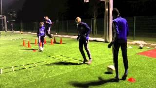 Kondition und Koordination mit Ball und Leiter