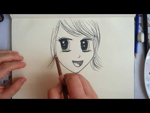 Anime Kiz Cizimi How To Drawing Girl Karakalem Charcoal