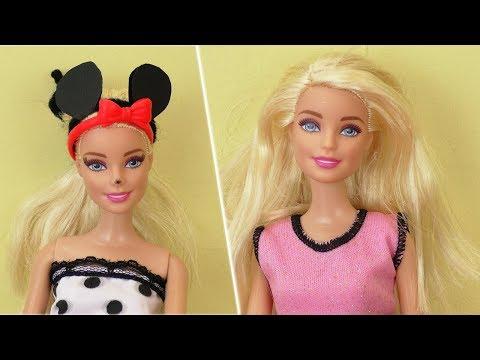 Faschingskostüm Idee für BARBIE   Süße Minnie Mouse Verkleidung   Karneval DIY Kostüm für Puppe