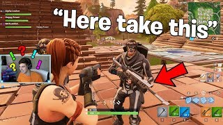 So This Cheater Gave Me Custom Guns In Fortnite..  Fortnite Battle Royale