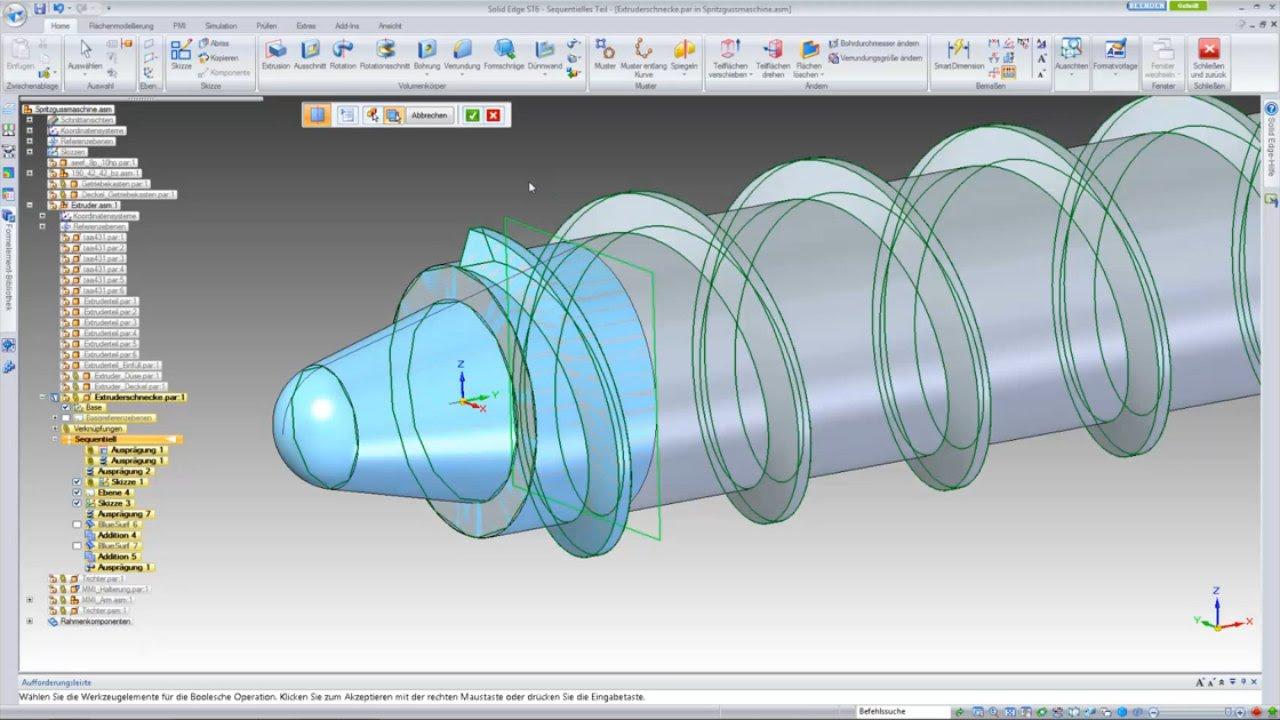 Vorschaubild: Solid Edge: Einfache Modellierung von Freiformflächen