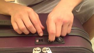 How to unlock a suitcase (unknown pin)