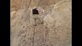 Rope is the only way to reach Ethiopia's Debre Damo Monastery